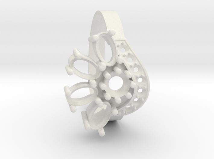 SolarCrest Ring. Part of garniture. 3d printed