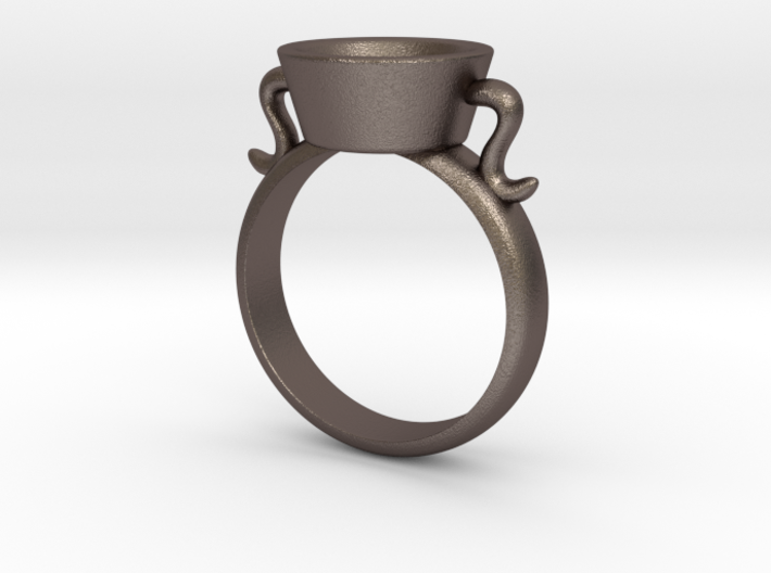 New Agape Ring, Size 8 3d printed