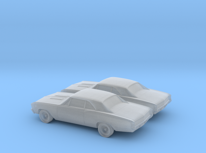 1/160 2X 1967 Chevy Chevelle 3d printed