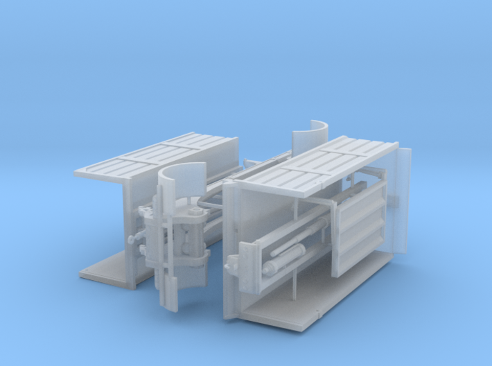 1/87th Likens type Dump Transfer truck and trailer 3d printed