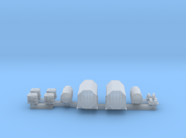 1:350 Scale US Aircraft Carrier Cargo Set 1 3d printed
