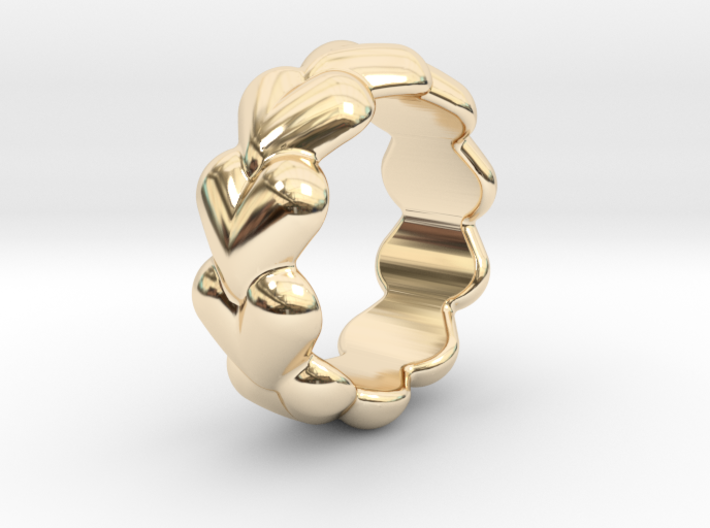 Heart Ring 17 - Italian Size 17 3d printed