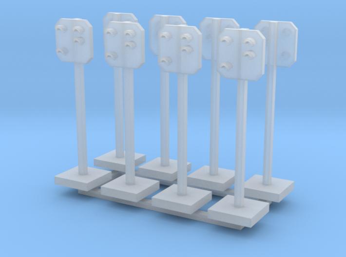 8 Stück: SBB Vorsignal Spur Z (1:220) 3d printed