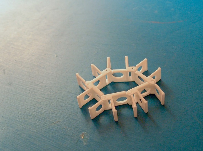 The Stick Clip v1.0- Broken Drum Sticks Become Art 3d printed Chain 'em together and get all sorts of creative with them!