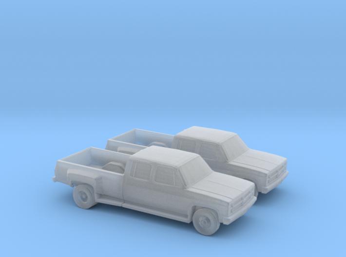 1/160 2X 1988 Chevrolet Silverado Dually 3d printed