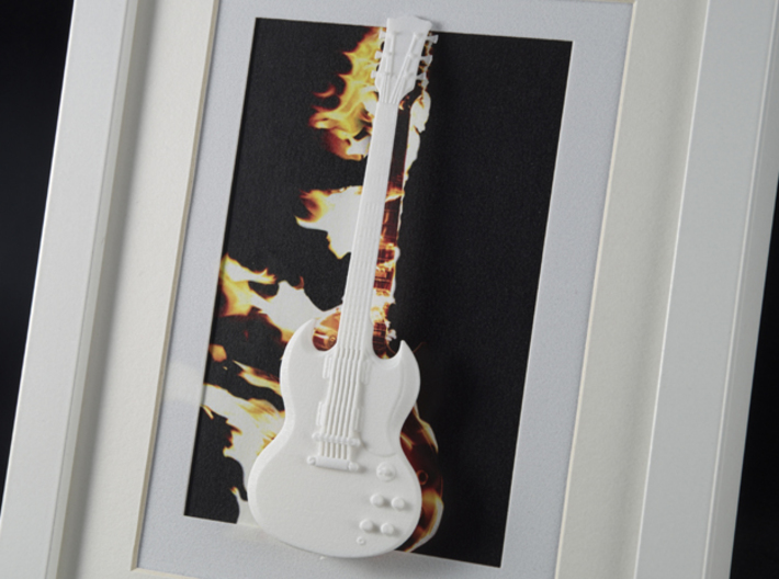 Gibson SG guitar for photo frame 3d printed Set it on fire