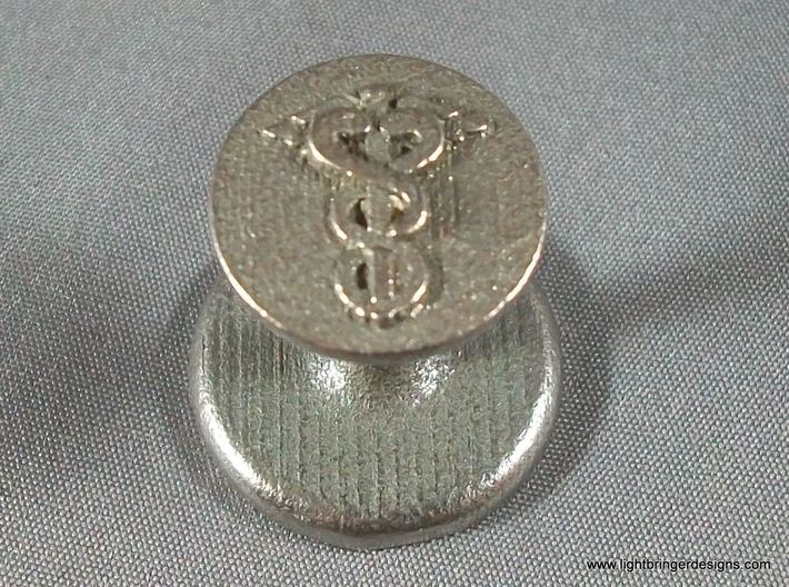 Caduceus Wax Seal (Doctor's Staff) 3d printed Seal by itself - this is what Shapeways will send you.