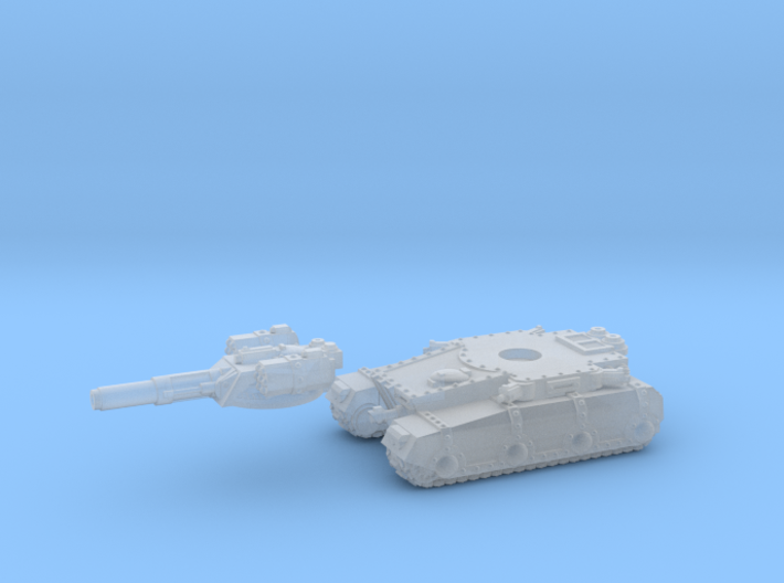 Irontank medium turret (2 piece) 3d printed