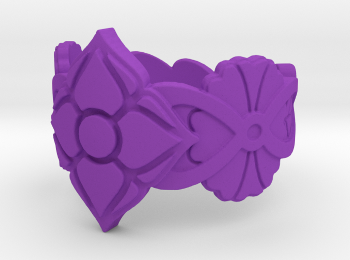 Floral Ring Size 7 3d printed