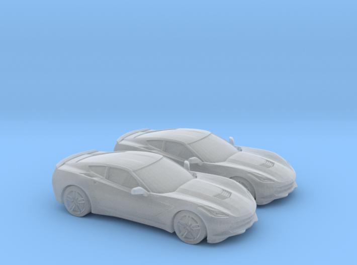 1/160 2X 2014 Chevrolet Corvette Stingray 3d printed