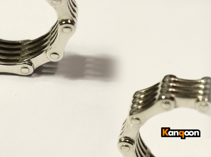Violetta S9 - Bicycle Chain Ring 3d printed Polished Silver printed in US 6.75