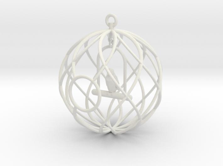 Birdcage Ornament 3d printed