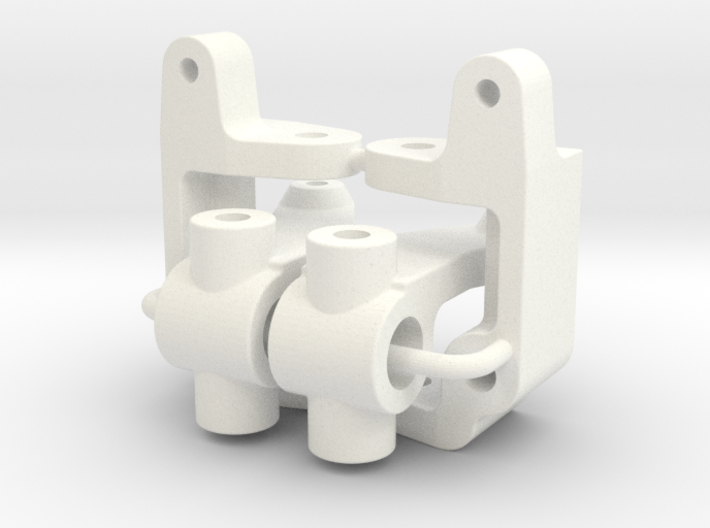 '91 Worlds Conversion - Caster and Steering Blocks 3d printed