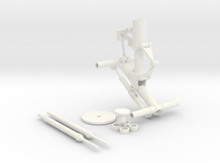 Flugzeugfahrwerk mit Federmechanik 3d printed