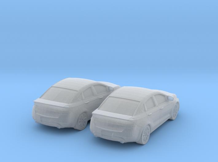 1/160 2X 2013 Dodge Dart 3d printed