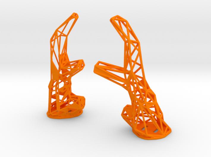 Cyber Faun Horns 3d printed