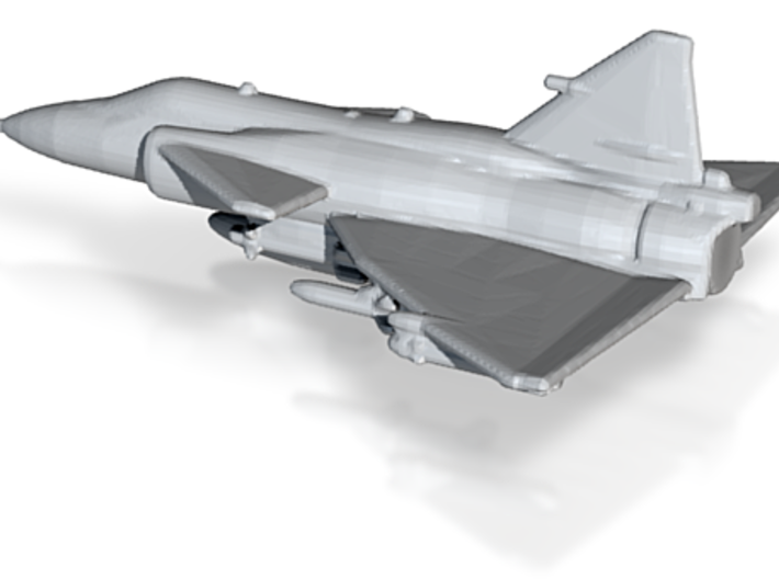 SAAB J37 Viggen 1 To 500 Scale Ready To Print 3d printed