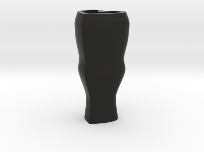Heart flower vase - black 3d printed