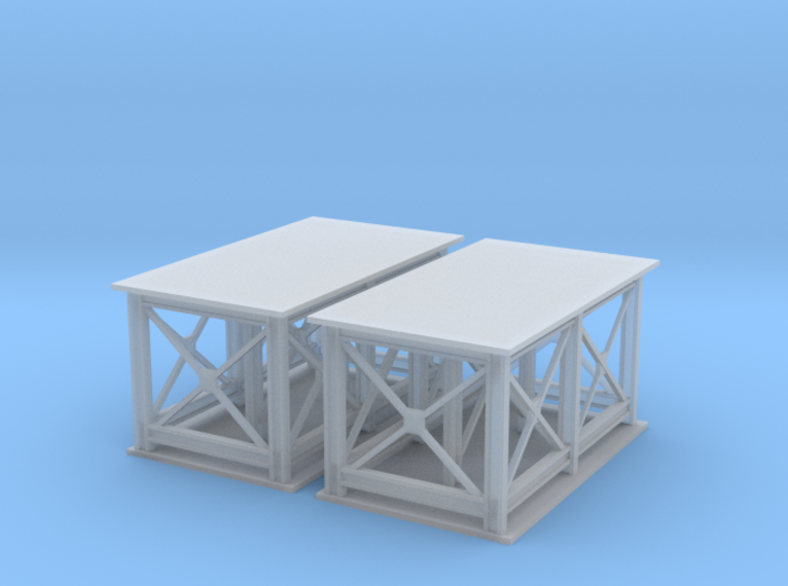 2 Support Structure Z Scale 3d printed Granite Plant supports Z scale