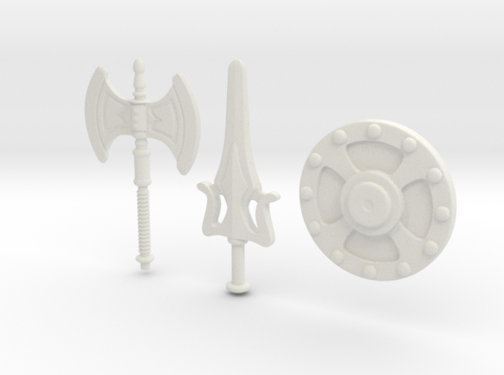 He-Man Weapons Bundle scaled for Minimates 3d printed