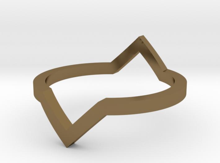 Diamond Illusion Ring 3d printed