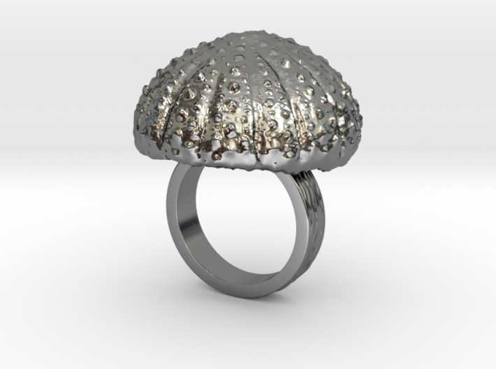 Urchin Statement Ring - US-Size 4 1/2 (15.27 mm) 3d printed