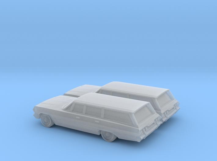 1/160 2X 1963 Chevrolet Impala Station Wagon 3d printed