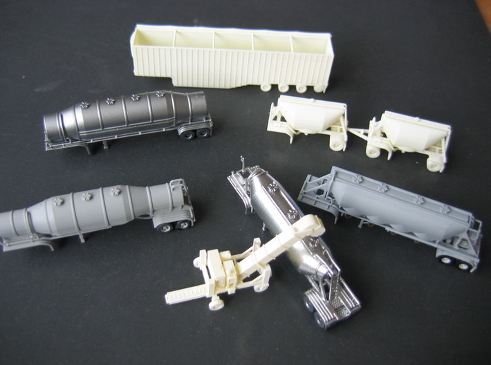 N scale 1/160 Dry Bulk 1040 Superjet Trailer 11 3d printed Some of my other N-scale 3D-printed models.