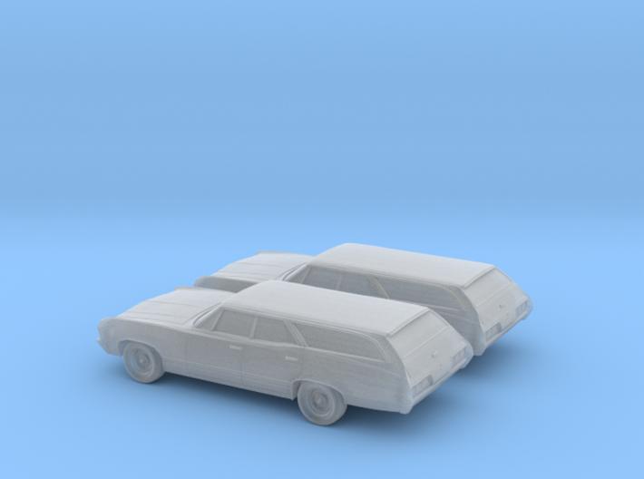 1/160 2X 1967 Chevrolet Impala Station Wagon 3d printed
