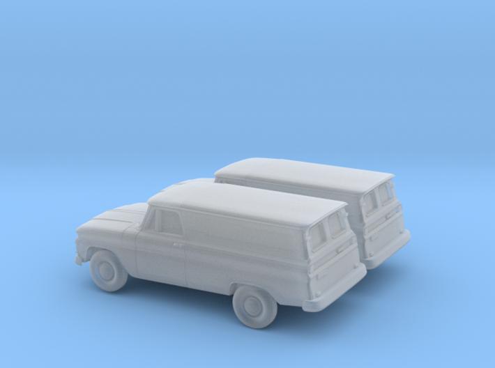 1/160 2X 1966 GMC Panel Van 3d printed