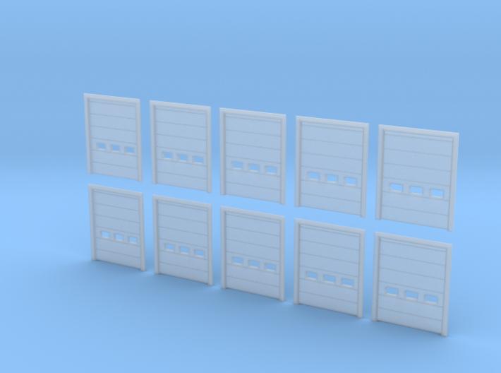 N Scale Overhead Door 10pc 3d printed