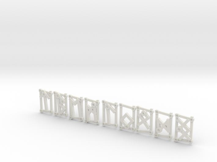 3rd Aett - Futhark Nordic Rune Stones - 3 of 4 3d printed
