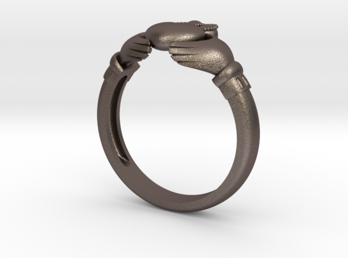 Claddah ring size 8 3d printed