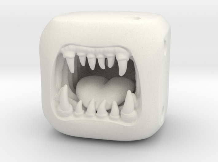 Monster Dice - Custom Dice 3d printed White Plastic