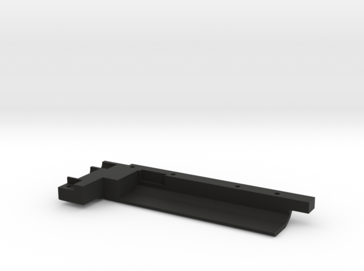 Rail With Stock Left Side Stl 3d printed