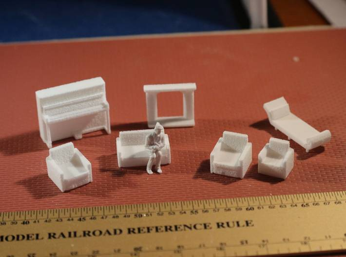 Living Room Stuff collection 2 HO Scale 3d printed
