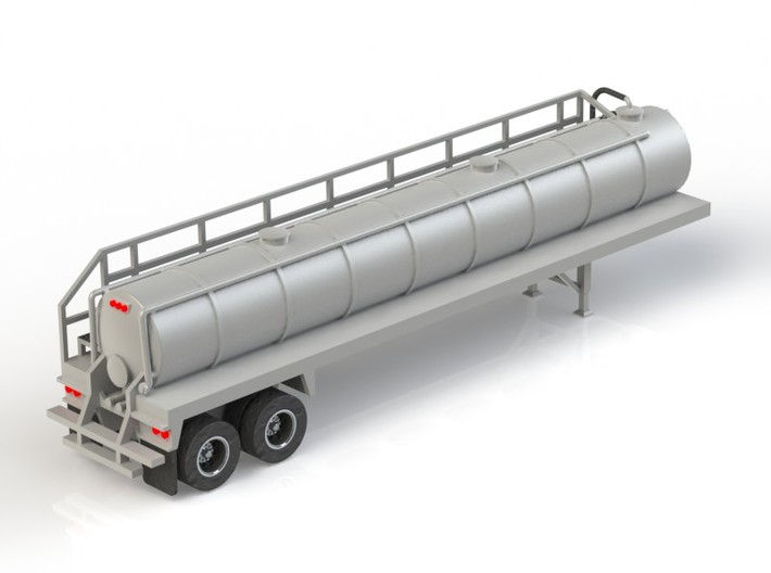 HO 1/87 Crude Oil Trailer, Troxell 130 3d printed A CAD render of the model.