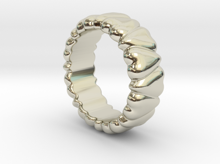 Ring Heart To Heart 19 - Italian Size 19 3d printed