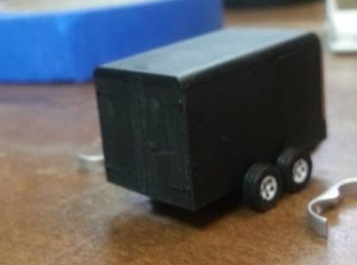 Trailer for A.Z., HO Scale 3d printed Modeling and photo by Anto Zillich