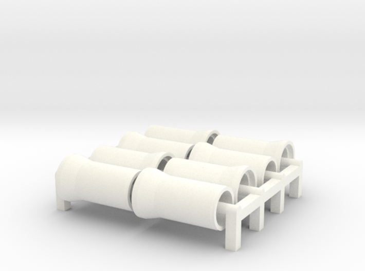 N Scale Sewer Pipes 1000mm 8pc 3d printed