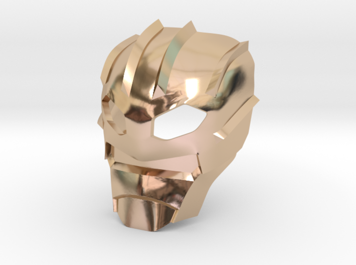 Kanohi Suletu (Inorganic) 3d printed