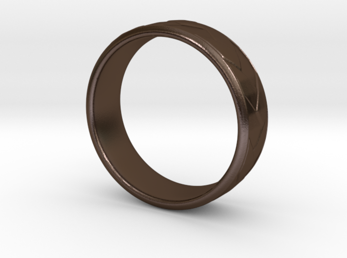 Flat Braid Ring size 12 3d printed