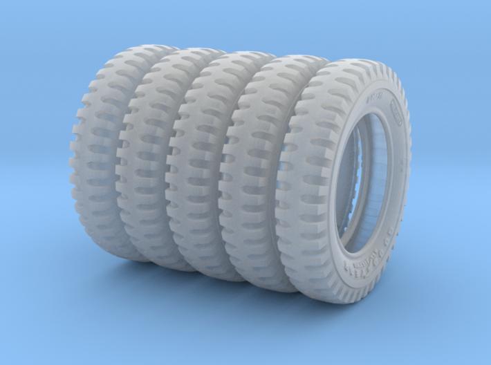 1-24 FIVE UNITS Tire 600x16 3d printed