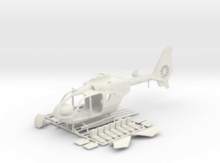 Helicopter Eurocopter EC135. HO Scale HO (1:87) 3d printed
