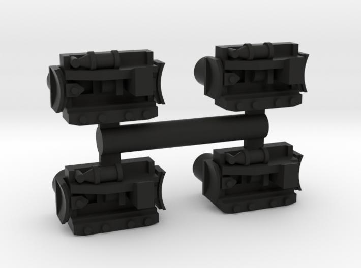 HO Brilliner Track Brake Sideframes 3d printed