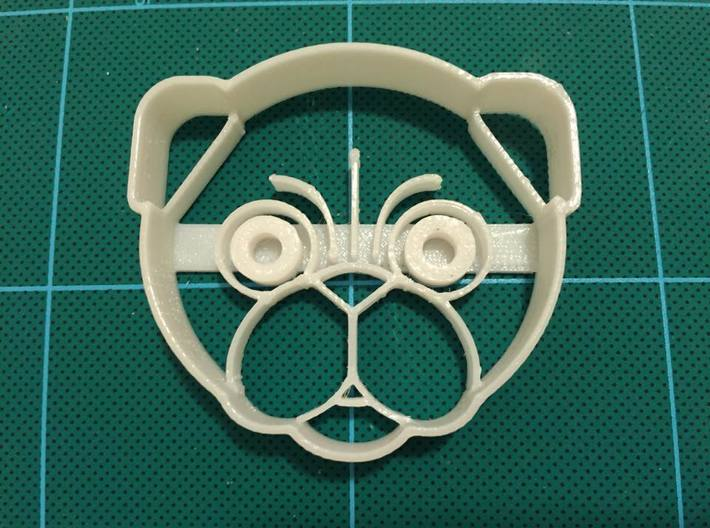 Atomade Pug Dog Cookie Cutter 2.5 inches 3d printed