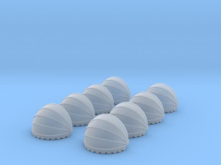 8x Korbmarkise rund 10mm (N 1:160) 3d printed