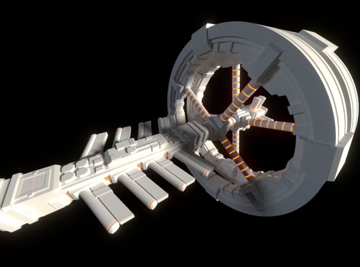 Futuristic space station concept (Large) 3d printed