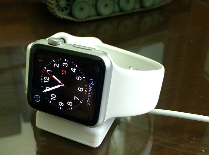 Compact Apple Watch Stand 3d printed