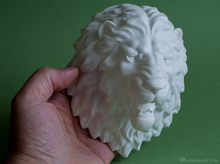 Lion Head Wall Mount. 3d printed